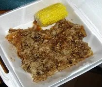 This was our LEFTOVERS from the Pit Rib House in Hickory Hills