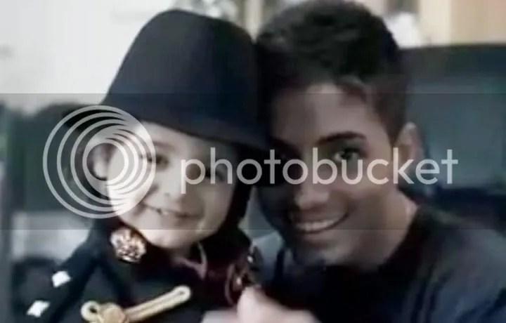Imagem do bailarino Omer (à direita), suposto filho de Michael Jackson
