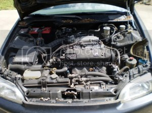 FS: 1993 four door civic (parts car) and a d15b7 engine
