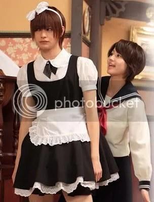 Muhahahaa! Satoru maid-ina