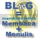 Budayakan membaca dan menulis melalui Blog
