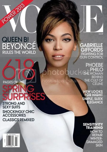 March 2013 Issue of Vogue - Beyonce Knowles on the Cover