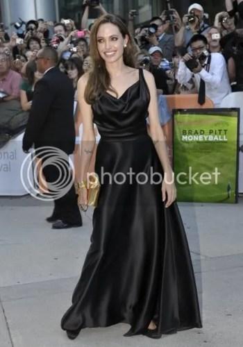 Angelina Jolie Louis Vuitton Lockit PM Devotion Clutch