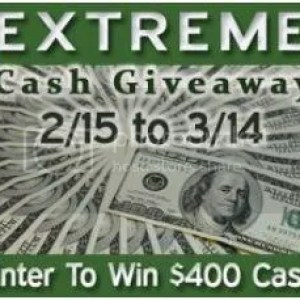 $400 Extreme Cash Giveaway