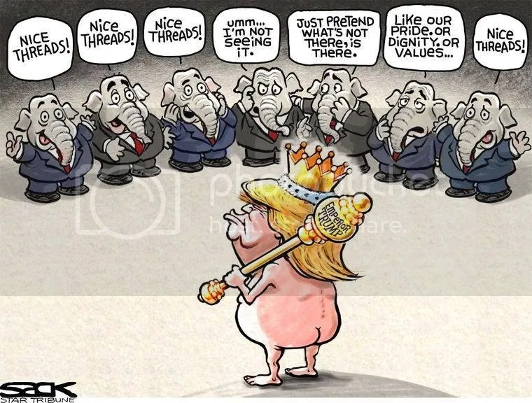 Image result for emperor no clothes trump