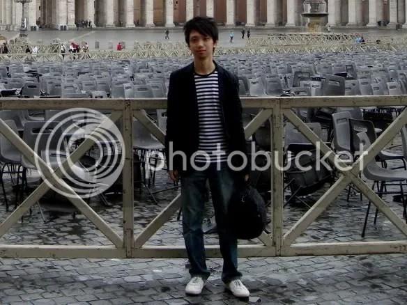 Jeremy C.K. Shih on Piazza San Pietro