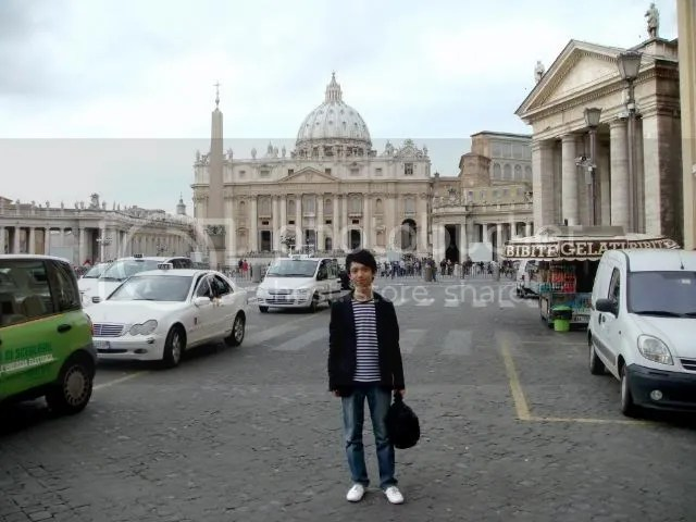 Jeremy C.K. Shih at outside Vatican City