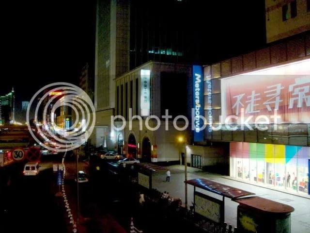 Commercial Street in Hangchow