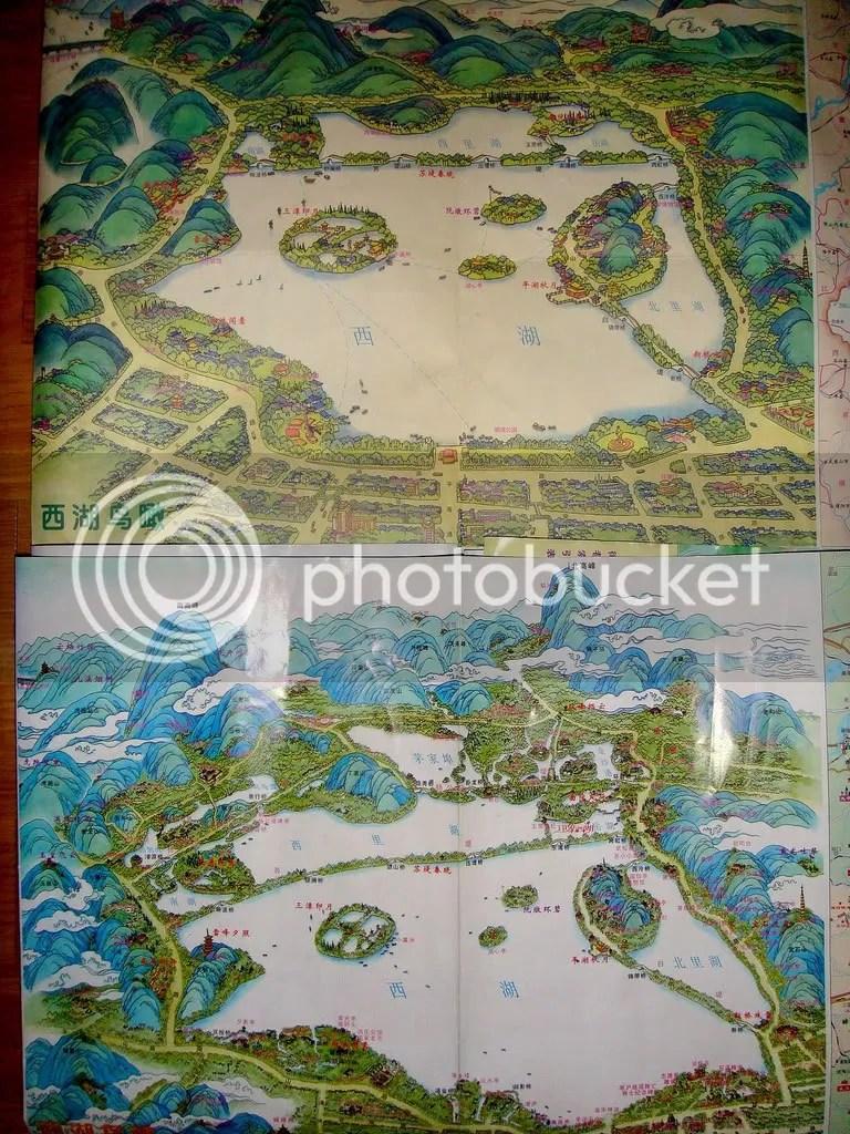 Maps of Hangchow - West Lake 2001 & 2009