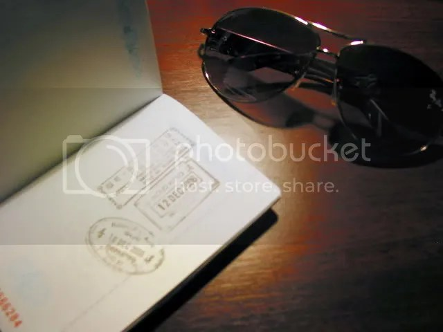 My SAR Passport and Sunglasses