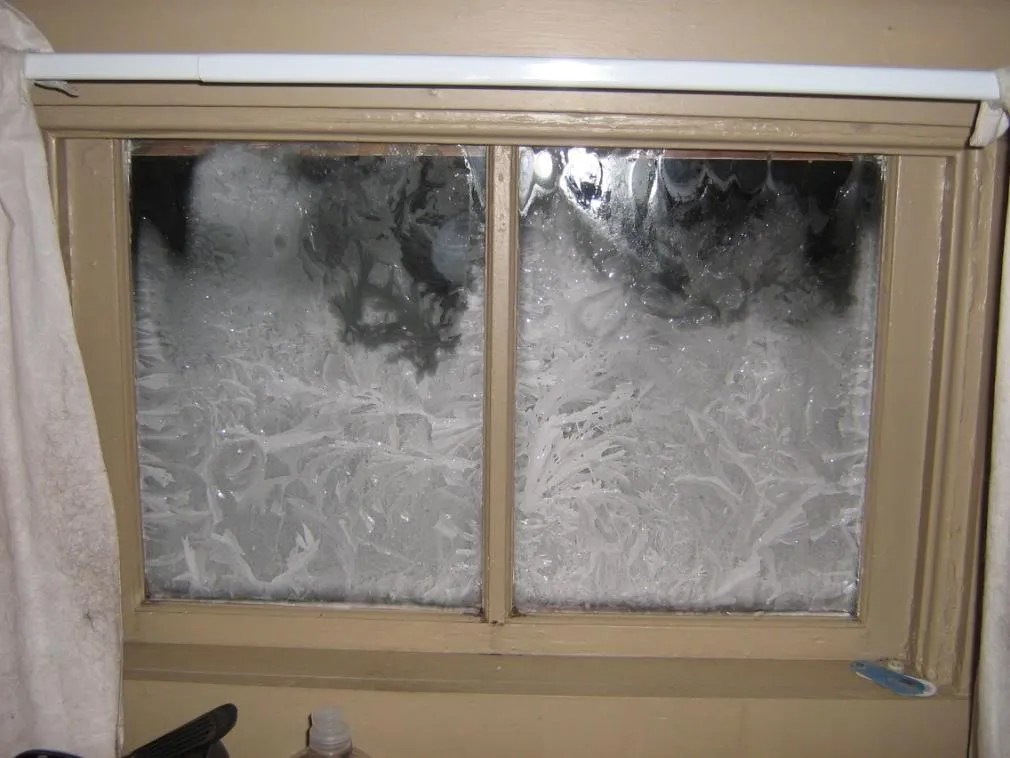 ice inside windows