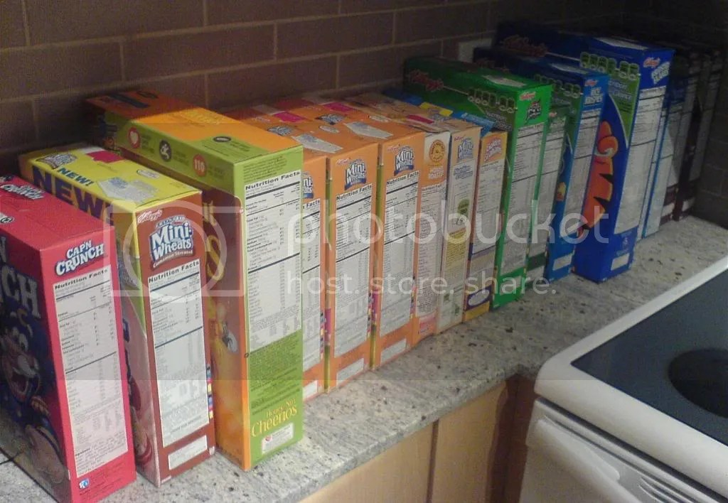 18 boxes of cereal from walmart