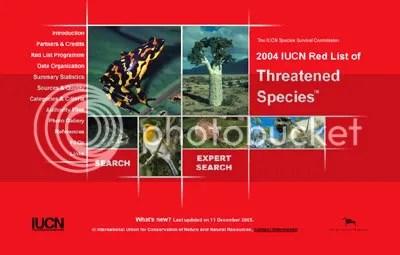 IUCN Red List Online