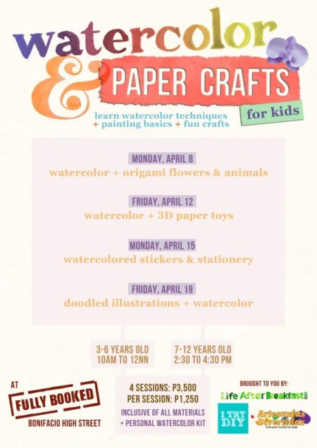 I Try DIY | Watercolor & Paper Crafts Workshop for Kids!