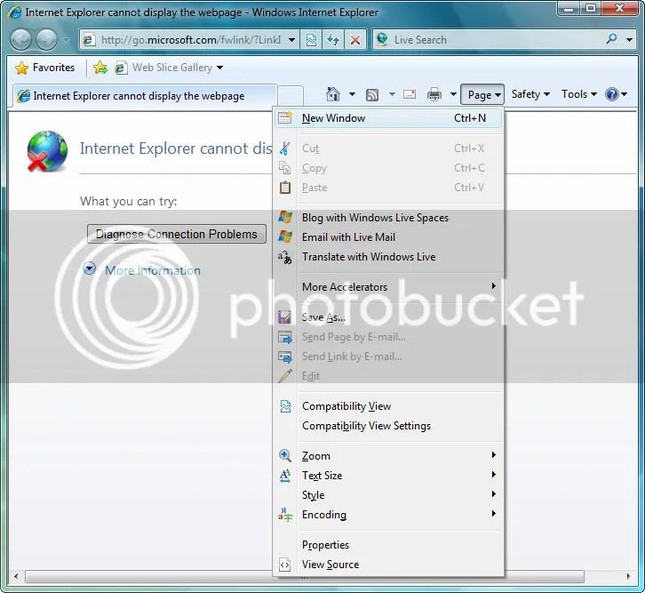 Internet Explorer 8 no Win7