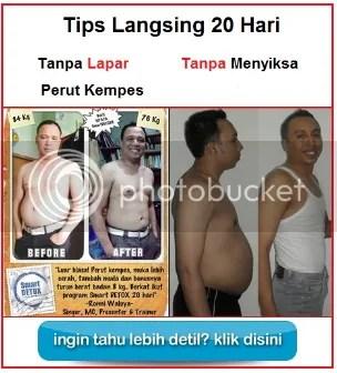 tips langsing dan perut kempes tanpa lapar