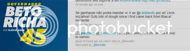 Perguntei quanto @_Betowitter ganha para fazer campanha para Beto Richa.Resposta digna da campanha http://twitter.com/_Betowitter/status/21849434370