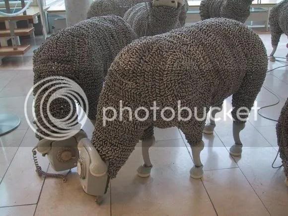 Telephone Sheep by Jean Luc Cornec