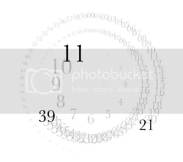analogy typographic clock