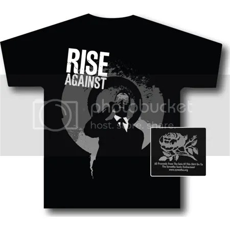 Rise Against shirts for a cure