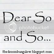 Dear So and So...