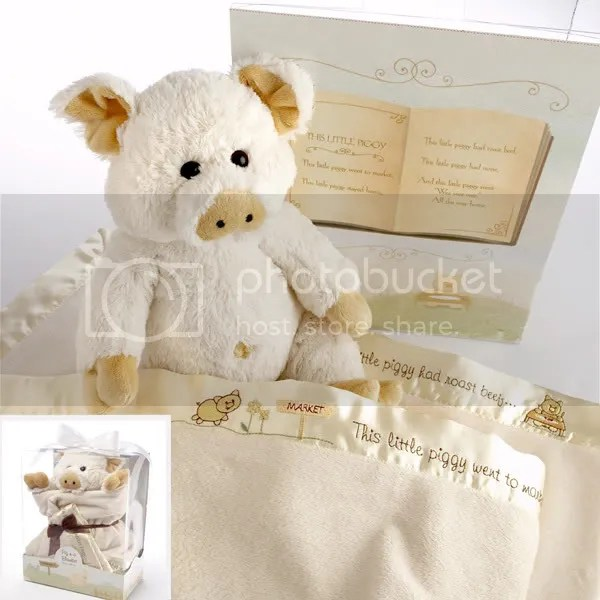 Little Piggie in Blanket Baby Gift Set