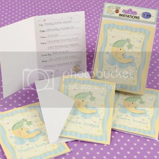 Moon and Star Invitations