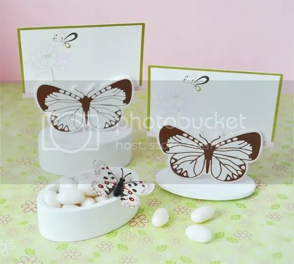Butterfly Garden Place Card Holder Favor Box