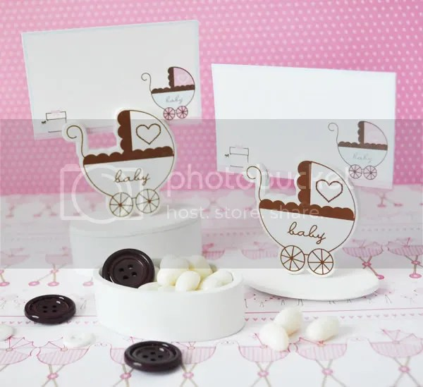 Baby Carriage Place Card Holder Favor Box