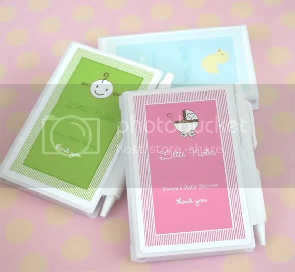 Little Note Personalized Notebook Practical Baby Shower Favor
