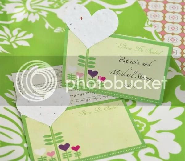 Heart Felt Place Card/Plantable Seed Favor