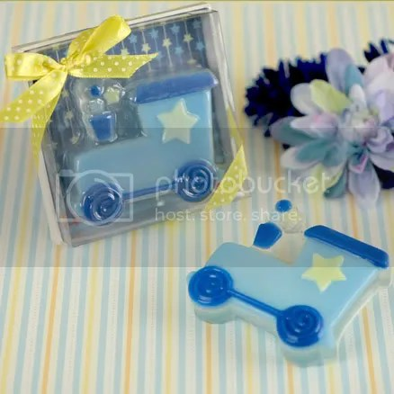 Blue Train Scented Soap Favor for Baby Shower or Kid Birthday