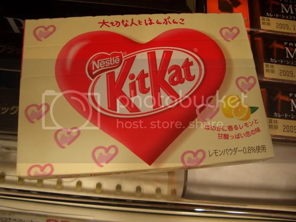 The lemon flavored Valentines Day special Kit Kats