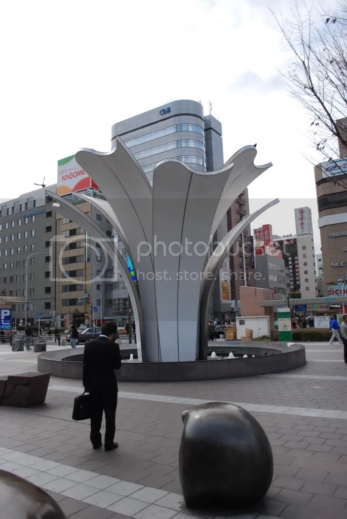 Public art outside of Nagoya station