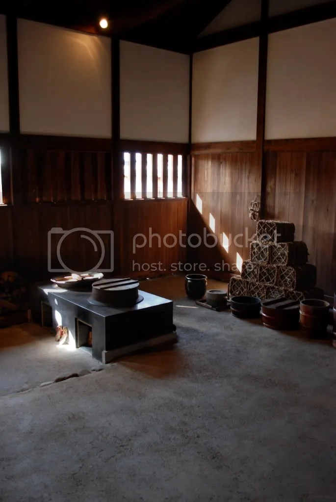 Inside the former government house of the Tokugawa Shogunate, the last one still standing. Storehouse area of the building.