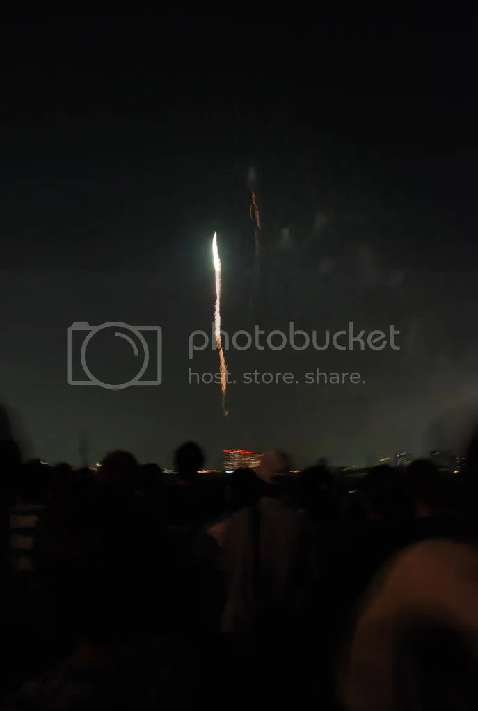 Firework getting shot up
