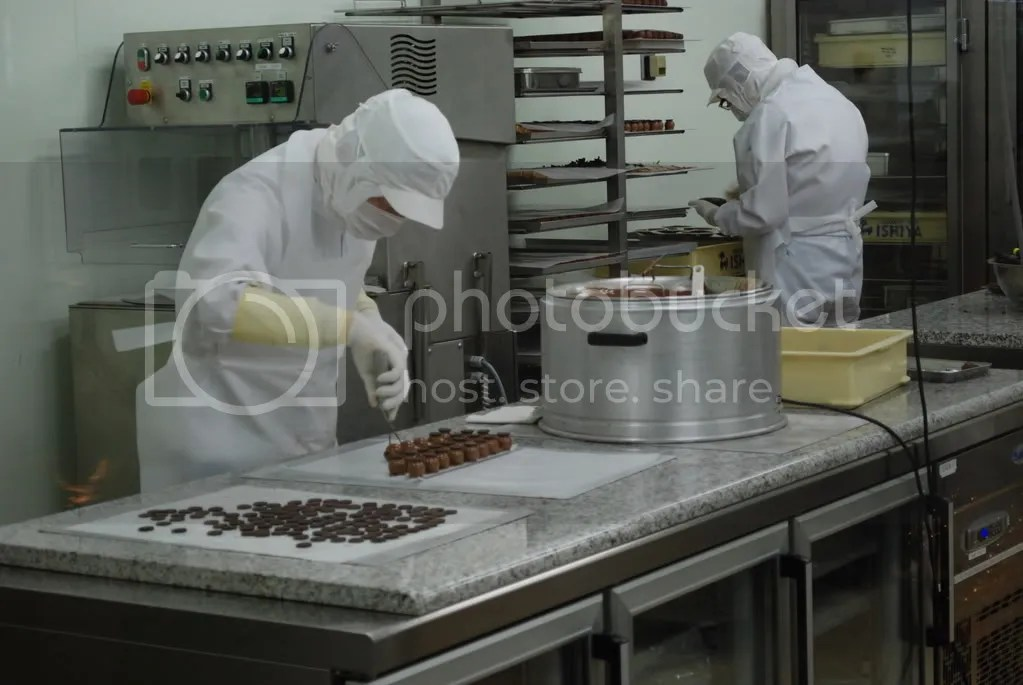 Making some little chocolates