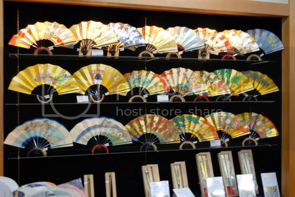 In a fan shop. Many of these fans were over 10,000 yen (Approx. $100)!