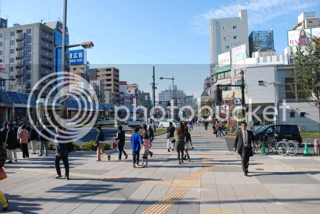 The view outside Sugamo station