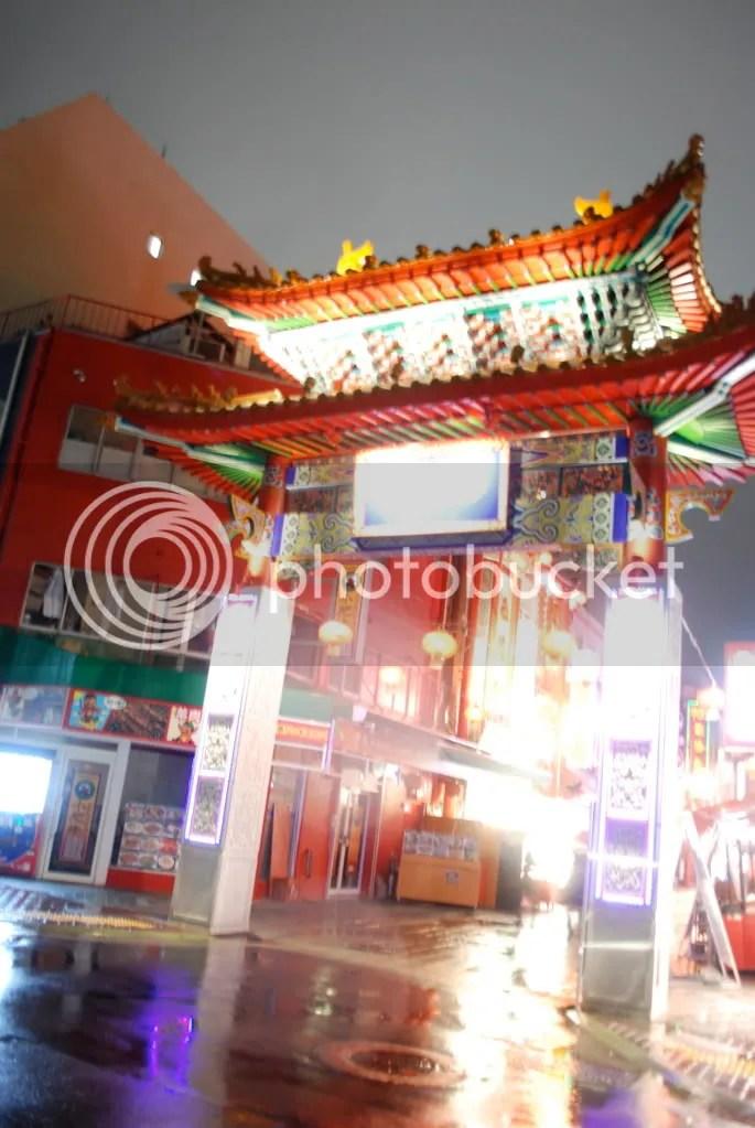Illuminated Chinatown gate