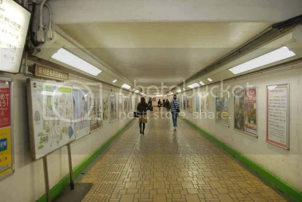 Walkway inside the station