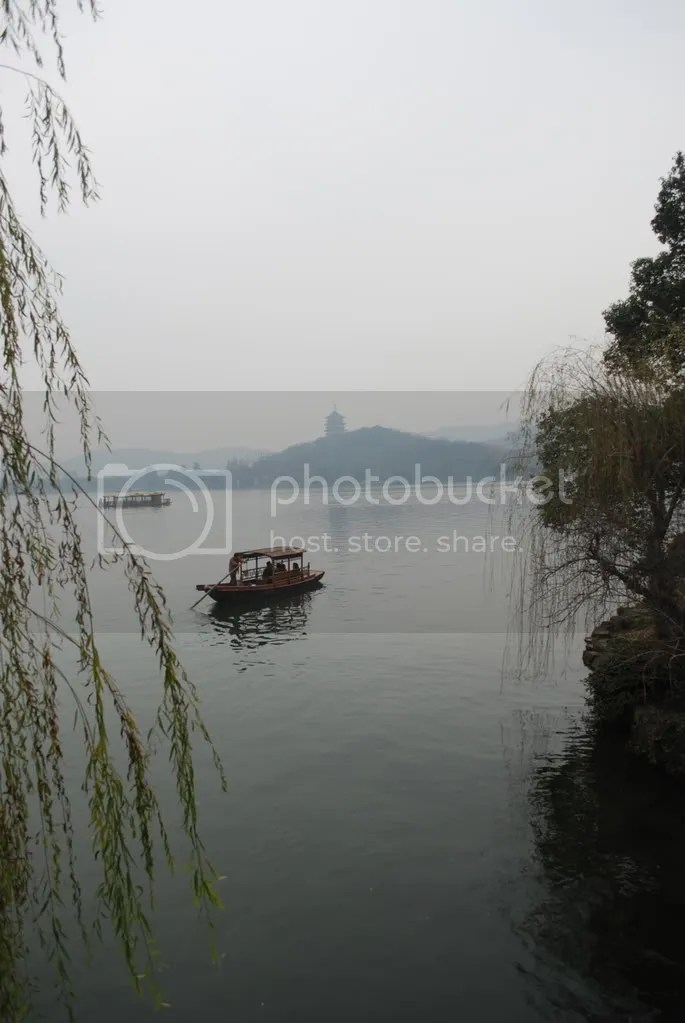 A boat on the West Lake