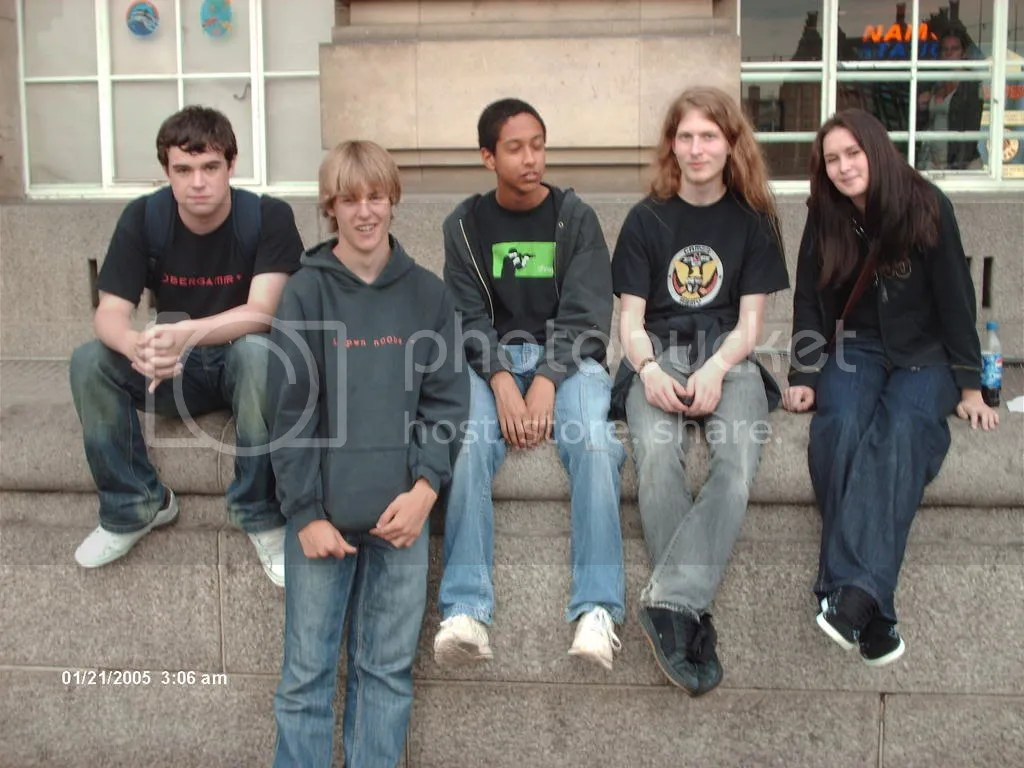 Zanzibar (Ian), Skree (Andrew), Haku (we still dont know his name), Me and techno-ninja (Kayliegh)