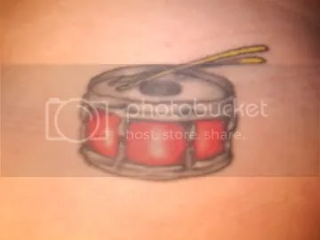 Cool Snare Drum Tattoo