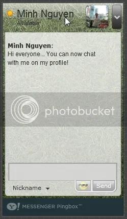 Yahoo 9.0 giới thiệu Ping Box cho phép chat trực tiếp từ trang web cá nhân