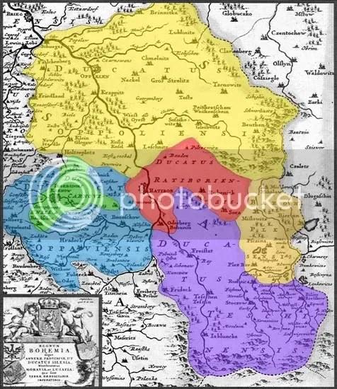 Górny Śląsk w roku 1680
