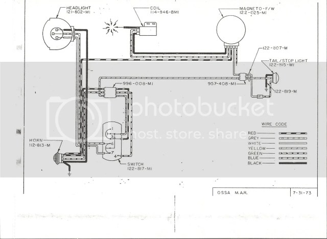 Ossa Pioneer Wiring Diagram : Ossa parts list hobbiesxstyle