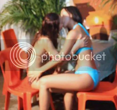mocha girls, lesbians, kissing