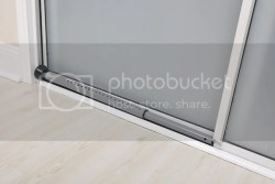 Sliding door security bar