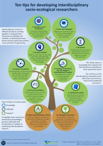 Infographic; rachel kelly; 10 Tips for Next Generation Interdisciplinary Research